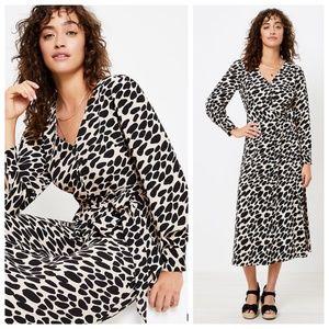 LOFT Cheetah Print Midi Shirtdress 14